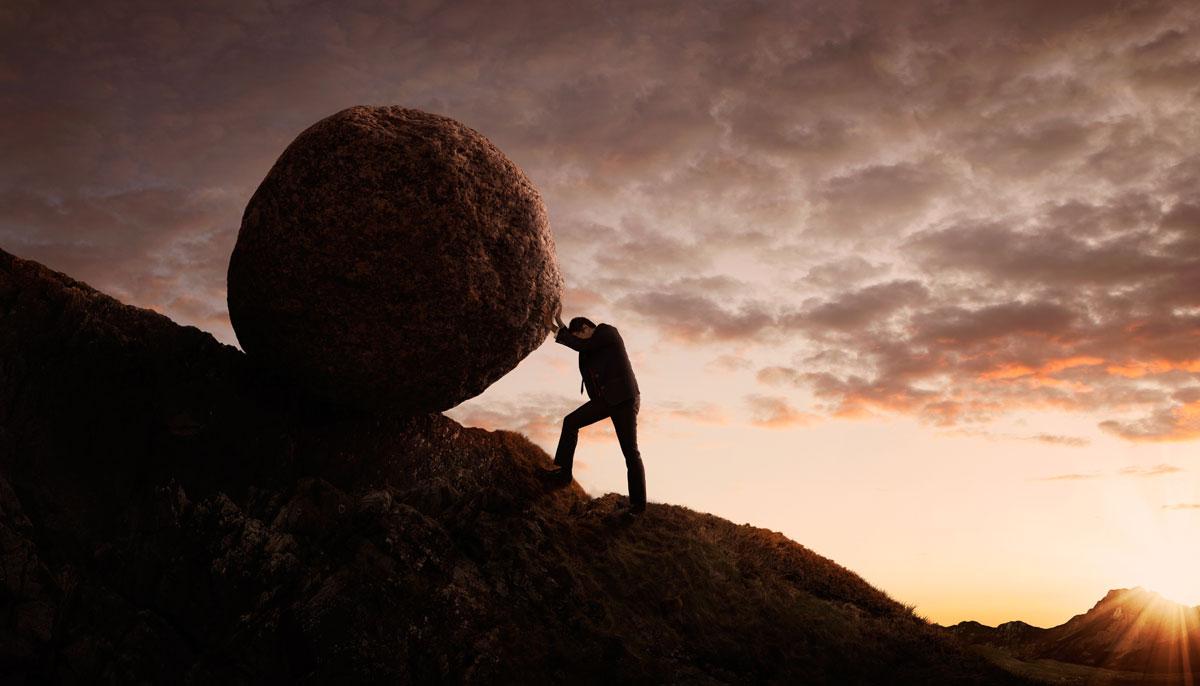 boulder-up-hill